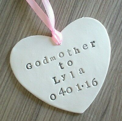 Best God Mother Father Godparent Shabby Chic Heart Message Thank You Gift Tags