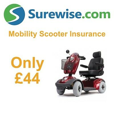Mobility Scooter Insurance from £44 - Used or New - TGA, Pro Rider and More