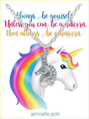❤UNICORN GIFT CHRISTMAS NECKLACE WITH CARD❤ Made in UK ❤  MAGICAL CREATURE ❤