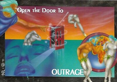 Outrage - Rave Flyer 1992 - Pez, Slipmatt, DJ Rap, Kenny Ken, Ray Keith, Pigbag