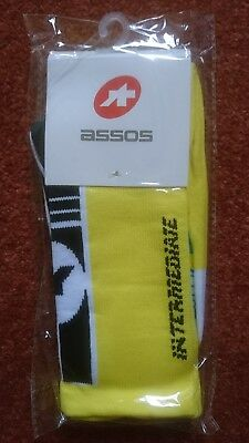 Assos cycling socks intermediate yellow