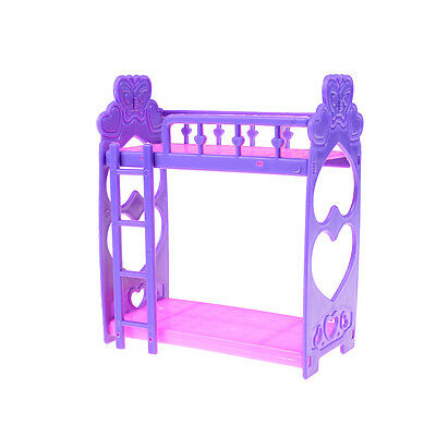 Mini Plastic bed for barbie doll kelly doll play house accessories gift EC