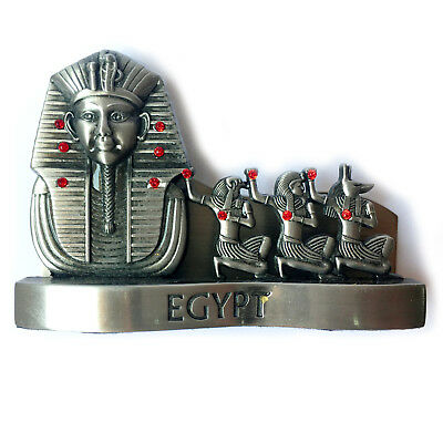 EGYPTIAN HANDMADE CARD HOLDER PHARAOH Tut Metal Ancient Hieroglyphic Decorative