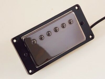 Axes'R'Us Alnico V Neck humbucker, black nickel finish with pickup ring
