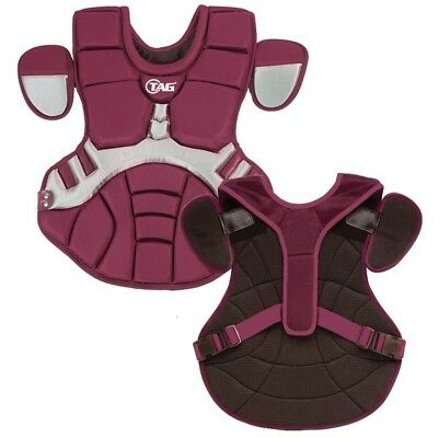 (Maroon with Grey) - TAG Pro Series Womens / Teen Body Protector (TBP 702)