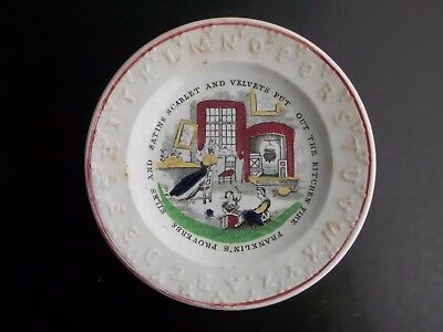 ABC Child's Plate ~ Franklin Proverbs - Mint