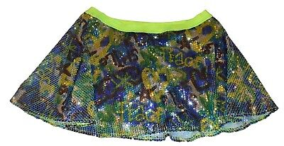 Justice Sequined Running Skirt with Sewn-in Pants (Skort) - Size 20