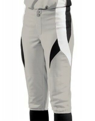 (Small, Silver/Black/White) - Women's Stinger Softball Pant. Teamwork