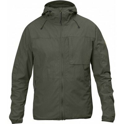 (Large, Mountain Grey) - Fjallraven Men's High Coast Wind Jacket. Free Shipping