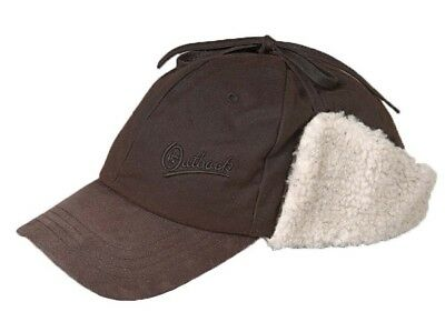 (Medium, Brown) - Outback Trading Co Men's Co. Oilskin Mckinley Cap - 1492Tan