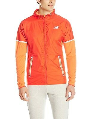 (Medium, Lava) - New Balance Men's Performance Merino Hybrid Jacket