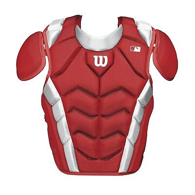 (37cm , Scarlet) - Wilson Pro Stock Chest Protector. Shipping Included