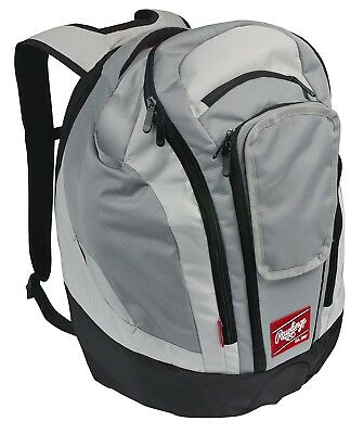 (Stone Gray) - Rawlings Baseball Legend Pro Backpack. Free Delivery