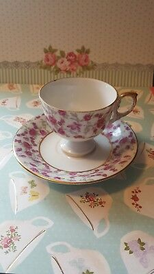 Napco chintz rose teacup and saucer