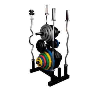 Olympic Weight Tree & Bar Rack by Body Power - Mint