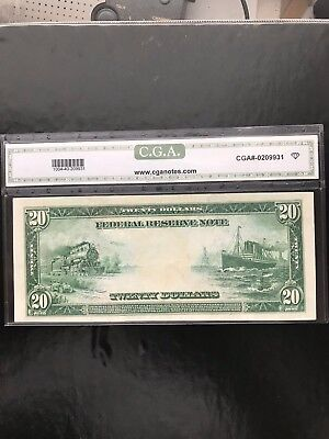 $20 1914 Federal Reserve Note Extremely Fine 40 .dallas.