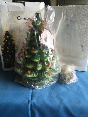 ReLIVE Christmas Is Forever Lighted Tabletop Ceramic Tree (new Unused!)