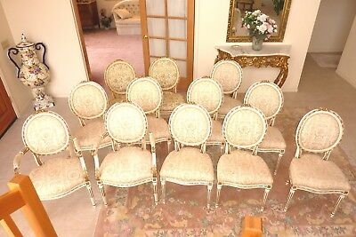 antique french Louis XVI dining chairs