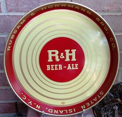 1940's Rubsam & Horrmann Brewing Company Beer Ale Tray Staten Island NY R & H