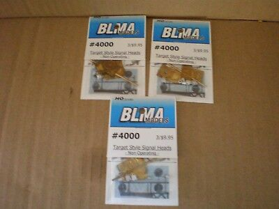 BLMA HO brass target style signal heads 3 packages of 3 each P/N 4000