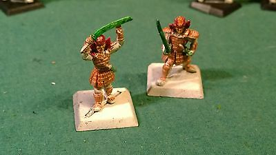 WOTC AEG Clan War metal swinging Katana warriors 2 clan ? bits lot #16 oop
