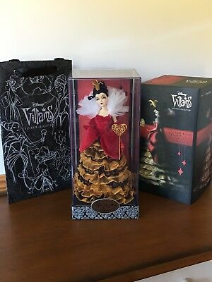 Disney Store Villains Designer Doll Collection QUEEN of HEARTS Limited & Bag LE