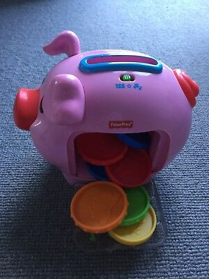 Fisher Price Laugh And Learn Piggy Bank Musical Counting Pig