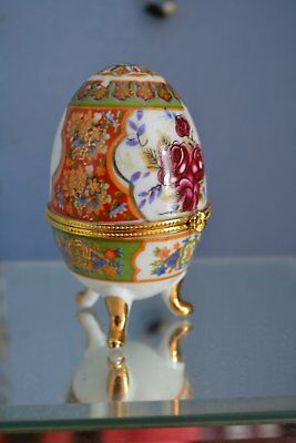 Ornamental Egg With Perfume Bottle (Empty)