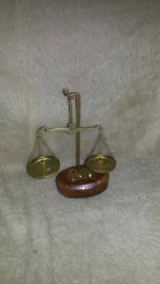 Antique Pharmacy Balance Scale With Weight in Wooden Case