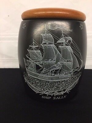Vintage Dunhill Humidor Ceramic Ship Sally The Sailors Farewell Pipe Tobacco