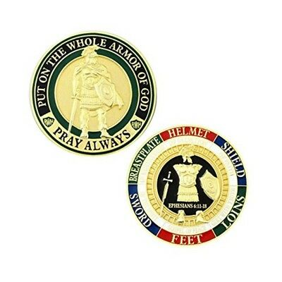 Armor of God Challenge Coin - Gold - Collector's Medallion - Jewelry Quality