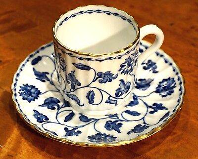 Beautiful Spode Colonel Blue Demitasse And Saucer