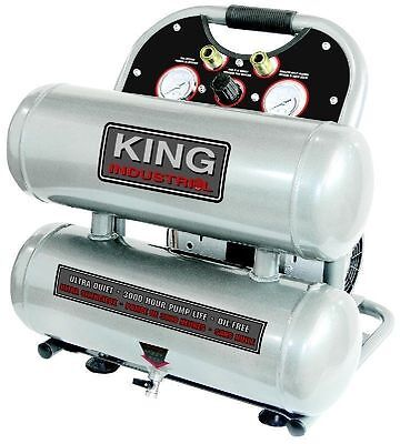 King Canada Tools KC-4620A ULTRA QUIET OIL-FREE AIR COMPRESSOR 4.6 GALLON TANKS