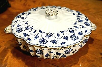 Beautiful Spode Colonel Blue Large Tureen With Lid