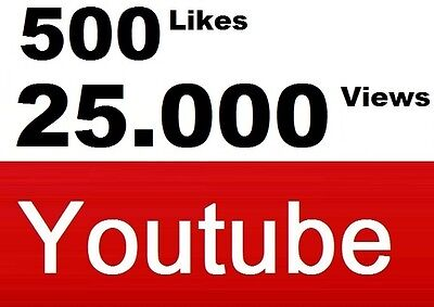 25.000 Views u. 500 Daumen hoch YouTub+