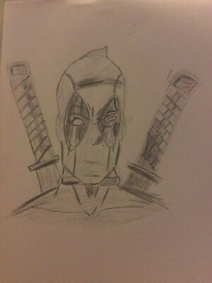 Deadpool Sketch Drawing.
