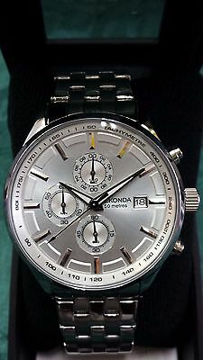 Sekonda Men's(1106) Chronograph 50M Silver Dial Watch~ New In Box ~ No Reserve