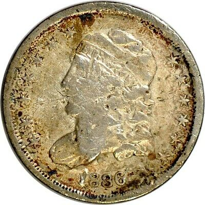 1836 H10C Capped Bust Half Dime VF(Cleaned)  K2373
