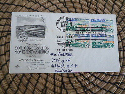United States  Art Craft  fdc 1959 Soil Conservation in America