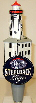 Steelback Premium Lager Lighthouse Beer Tap Handle