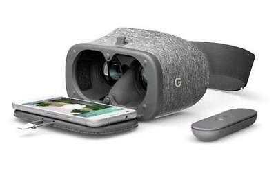 NEW Google Daydream View VR Virtual Reality Headset Controller Apps Games Slate