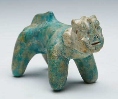 Kashan Turquoise Glazed Pottery Cat Figure 12/13Th C