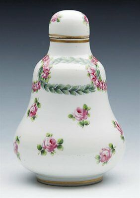 Antique French Sevres Scent Bottle With Rose Garlands 18/19Th C