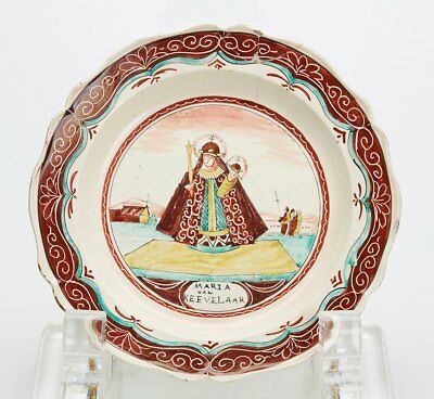 Creamware Dutch Painted Plate 18Th C