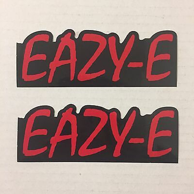 Lot Of 2 Eazy-E Promo Only Foil Logo Stickers Straight Outta Compton NWA N.W.A.