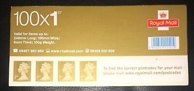 Genuine Sheet of 100 First Class Gold Stamps Self Adhesive
