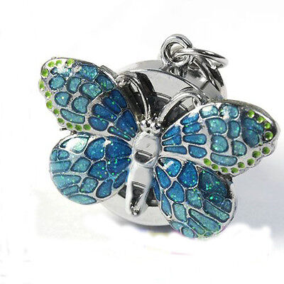 DBS Blue Butterfly Key Ring Women Watch Quartz Accessories Montres