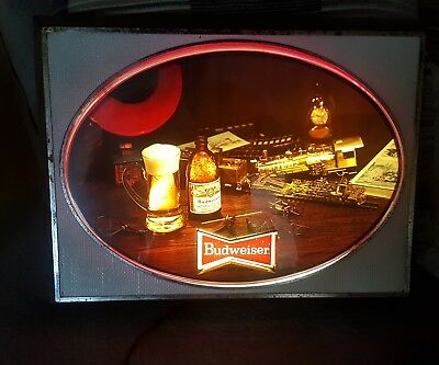 "Vintage Budweiser lighted sign. From the 60's .20""×15"""