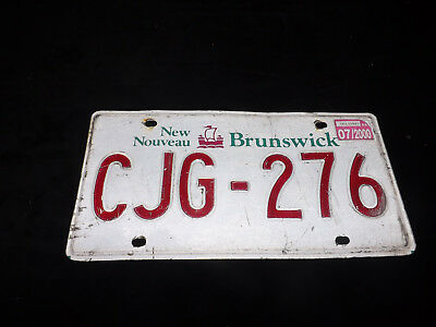 2000 NEW BRUNSWICK License Plate CJG-276