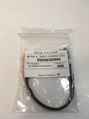 NEW Polycom 2457-23492-001 Hdx 9000 Adapter Cable 2x 3-PIN Phoenix to RCA Female